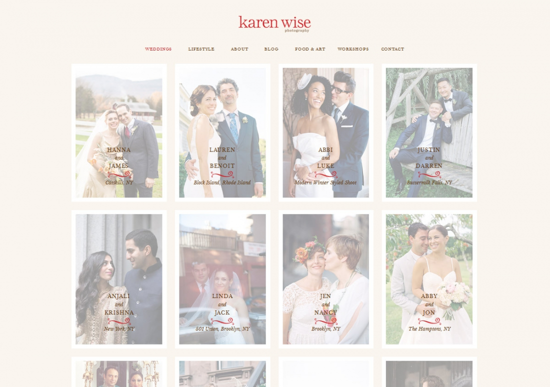 Wordpress Photography Websites