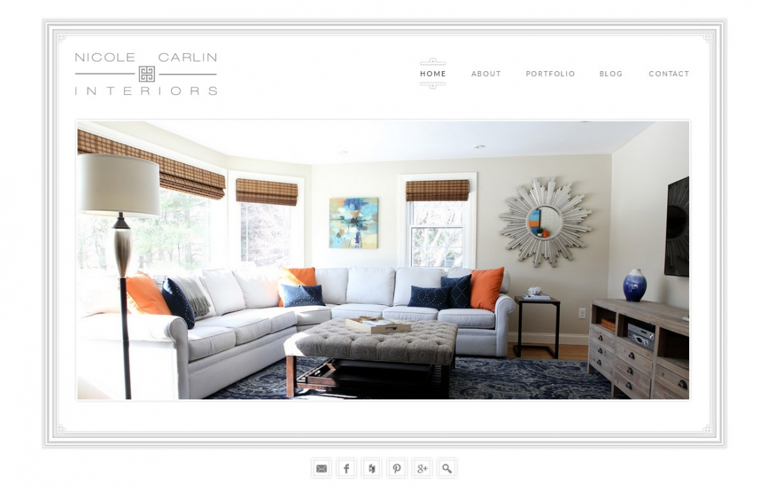 Wordpress portfolio interior designer nicole carlin Fit interior design portfolio