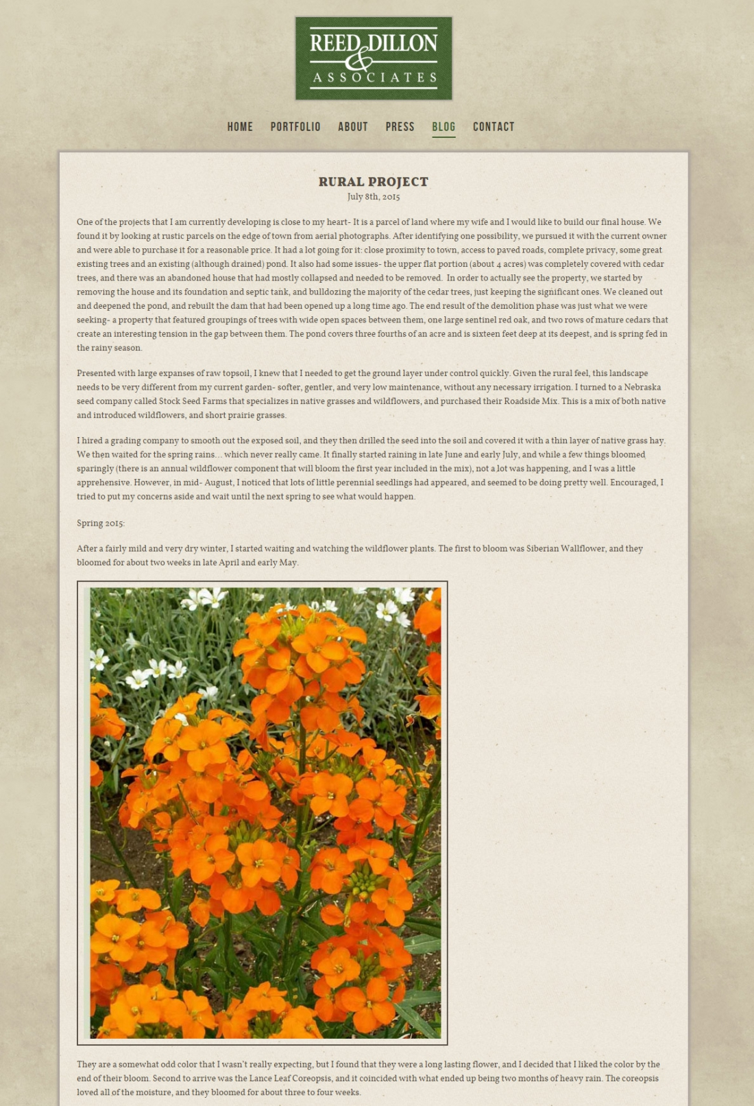 Landscape Architect Web Design