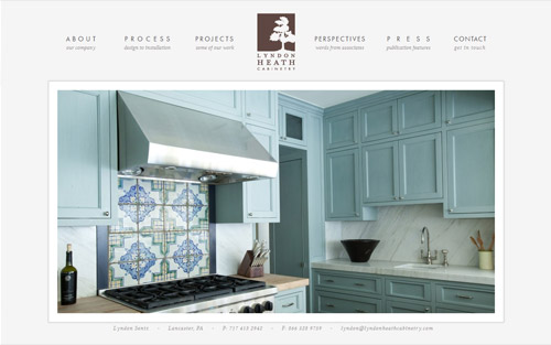 Custom kitchen cabinetmaker website