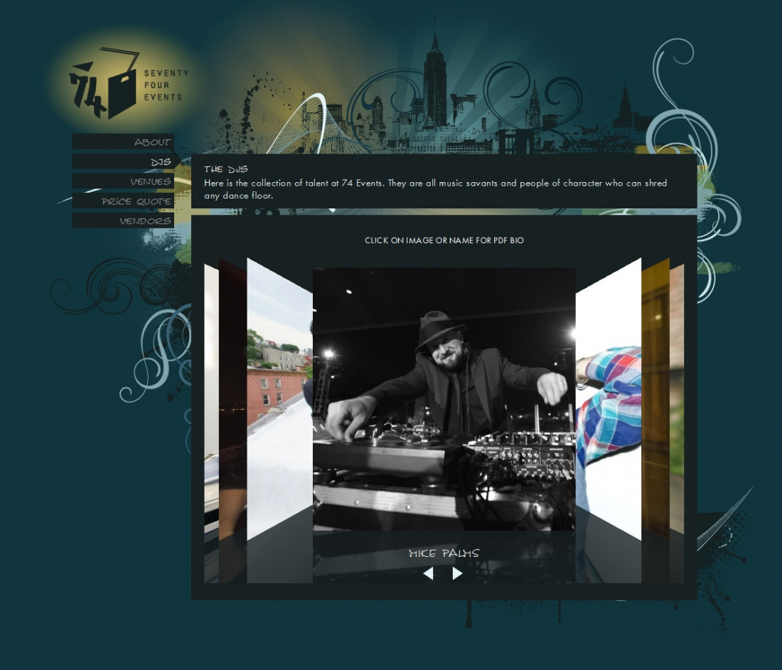 Wedding dj website