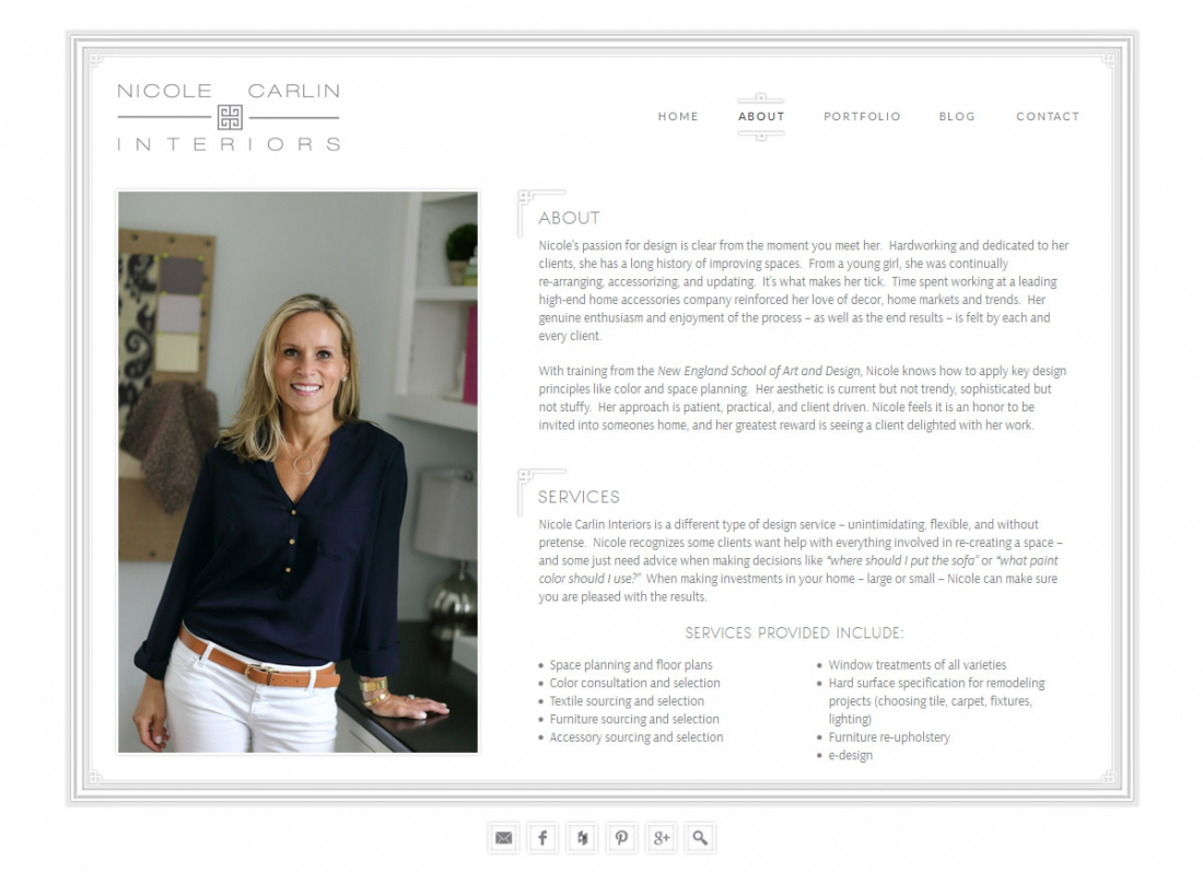 Wordpress Portfolio Interior Designer